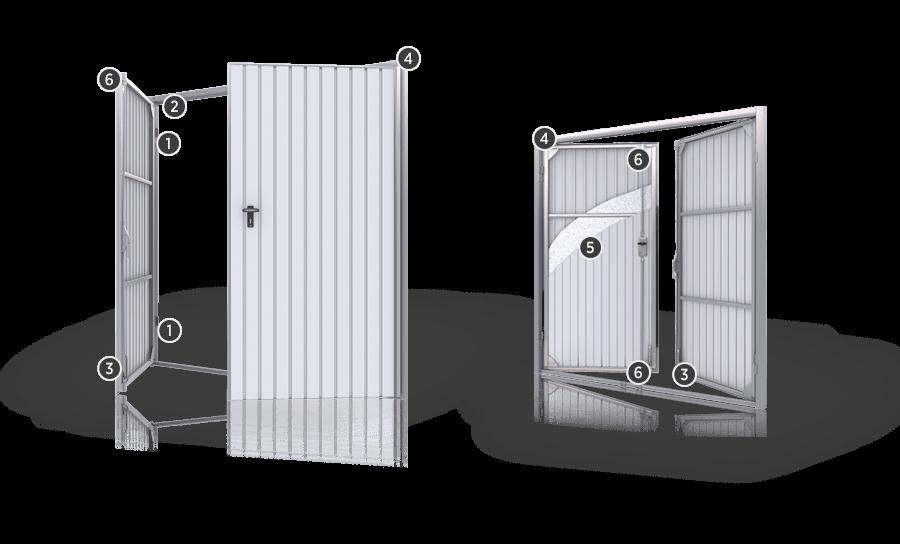 Portoni a battente portoni fintecnic produttore di for Costo per costruire un garage per 2 persone
