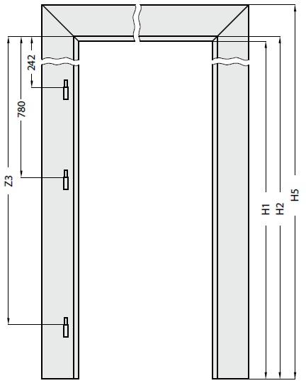 Porte interne porte fintecnic produttore di finestre for Dimensioni standard finestre
